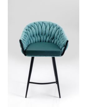 KNOT BAR CHAIR ,BLUE GREEN