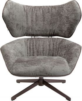 Swivel Chair Oval Office , Grey,Fab