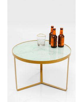 SIDE TABLE MARBLE GOLD DIA70CM,GOLDEN