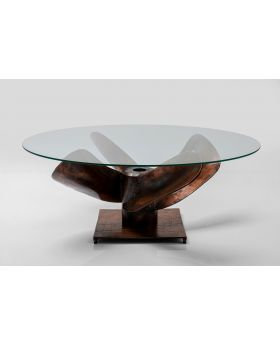 COFFEE TABLE PROPELLER DIA90CM,BROWN