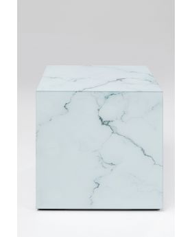 SIDE TABLE LUXURY MARBLE 45X45CM,GREY