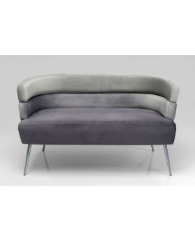Sandwich 2 Seat Sofa Grey,Fab