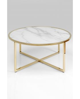 COFFEE TABLE WEST BEACH BRASS DIA80CM