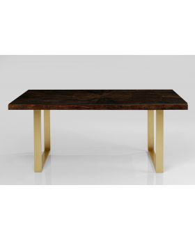 Conley Diningtable Solidwood/Brass180X90