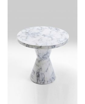 Side Table Marble Art Dia40Cm,White
