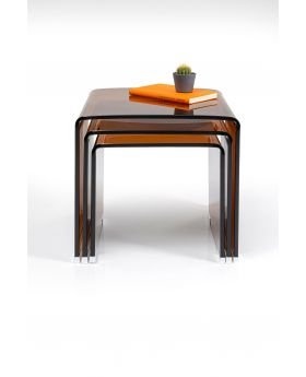 Nest Of 3 Tables Visible (3/Set),Orange