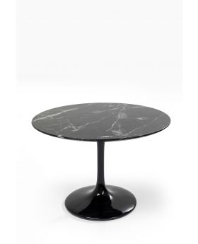 SOLO DINING TABLE MARBLE BLACK DIA 110CM