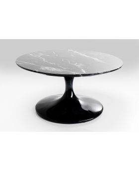 Coffee Table Solo Marble Black 90Cm