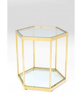 Side Table Comb Gold 55Cm