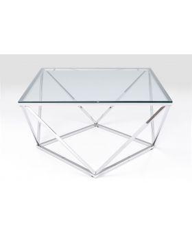 Coffee Table Cristallo 80X80Cm,Silvery
