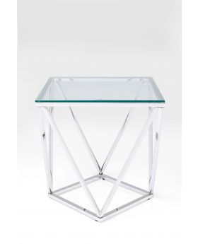 Side Table Cristallo 50X50Cm,Silvery