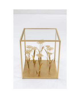 Side Table Flower Meadow Gold 40X40Cm