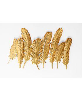 Coat Rack Leaf Gold 86 Gold