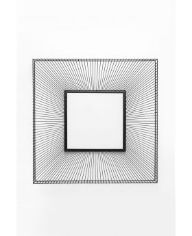 MIRROR DIMENSION SQUARE 91X91CM,BLACK