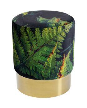 Stool Cherry Leaf Brass Dia35Cm