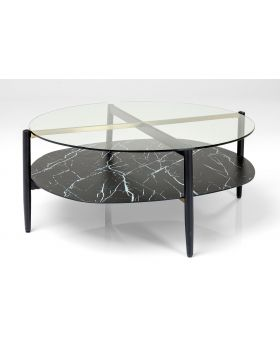 Noblesse Coffeetable Ovalglass 97X91Cm