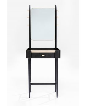 Coat Rack With Mirror Milano Brown