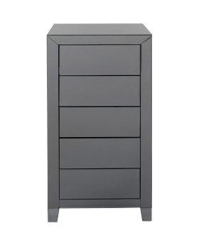 High Dresser Luxury Push 5 Drawers Grey