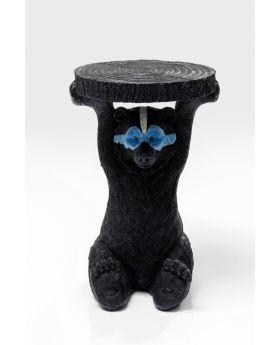 Side Table Blue Mask Bear Black DIA35