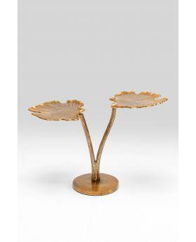 Side Table Leaf Brass 57X40