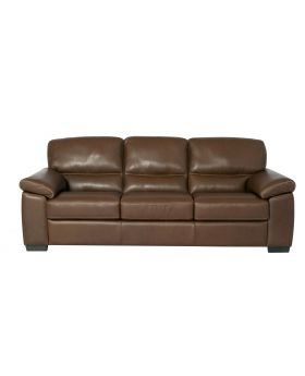 AMALFI U309 3 SEAT SOFA CHESTNUT LTR