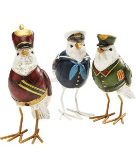 Deco Figurine Uniform Bird Assorted