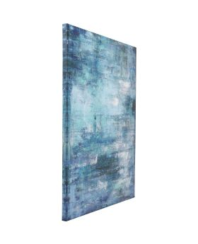 Picture Touched Abstract Blue 90x120cm