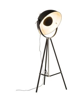 FLOOR LAMP BOWL BLACK (EXCLUDING BULB)