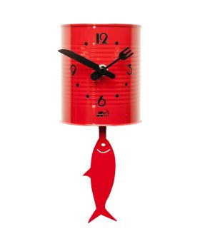 Wall Clock Tin Fish