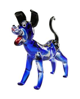 Deco Figurine Blue Dog