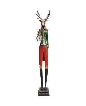 Table Clock Gentleman Deer
