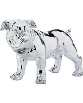 Deco Figurine Bulldogge Silver Econo 42cm