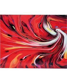 Picture Glass Chaos Fire 150x120cm