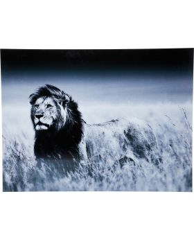 Picture Glass Lion King Standing 120x1