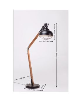 FLOOR LAMP ROCKY (EXCLUDING BULB)