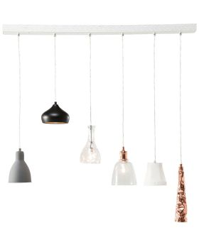 PENDANT LAMP SHADES DINING 6-LITE (EXCLUDING BULB AND SOCKET)
