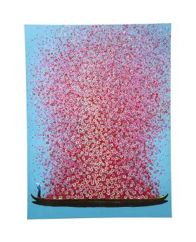 Picture Touched Flower Boat 160x120cm