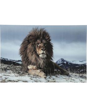 Picture Glass Proud Lion 120x180cm
