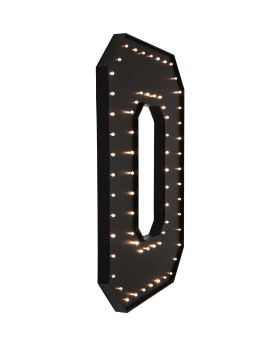 Wall Light O Black LED 169cm