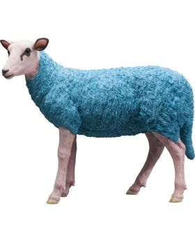 Deco Figurine Sheep Colore Light Blue