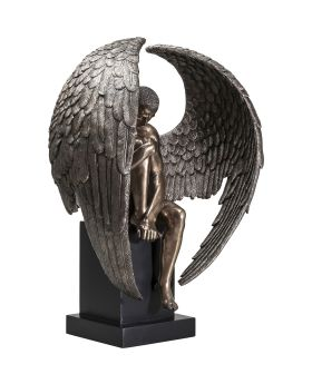 Deco Figurine Nude Sad Angel Big