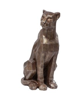 Deco Figurine Sitting Cat Rivet Copper