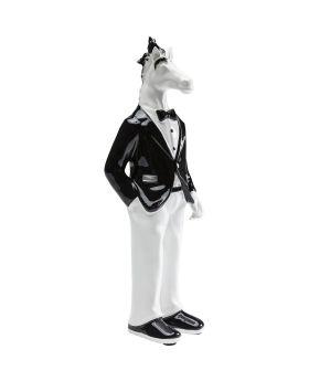 Deco Figurine Gentlemen Horse 32cm