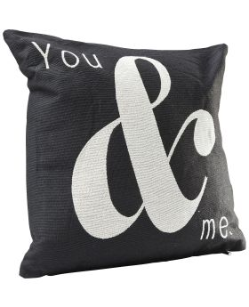 Cushion You And Me Black 45x45cm
