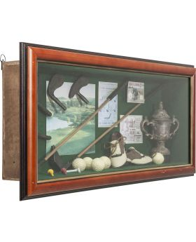 Deco Shadow Box Golfer