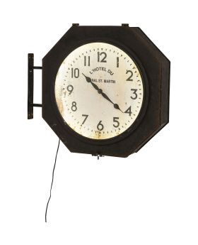 Wall Clock Hotel Du St Martin LED