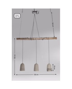 Pendant Lamp Dining Concrete Tre (Excluding Bulb And Socket)