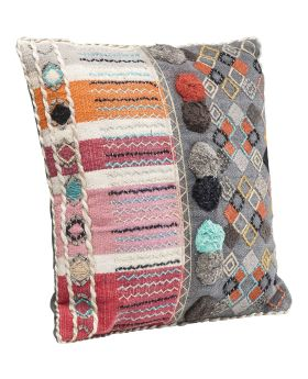 Cushion Yurt Colore Pompons 50x50cm