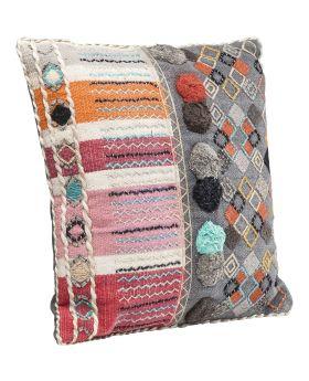 Cushion Yurt Colore Pompons 50x50cm