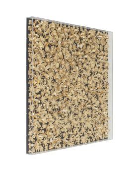 Deco Frame Gold Flower 120x120cm